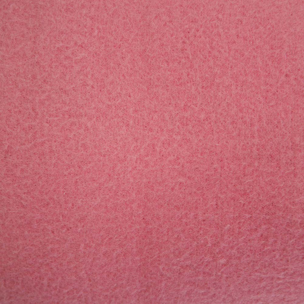 Close up of pink felt picnic blanket