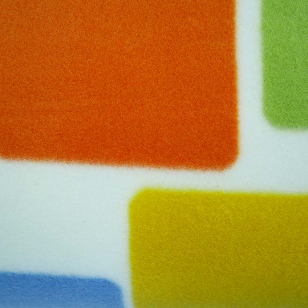 Close up of colourful picnic blanket