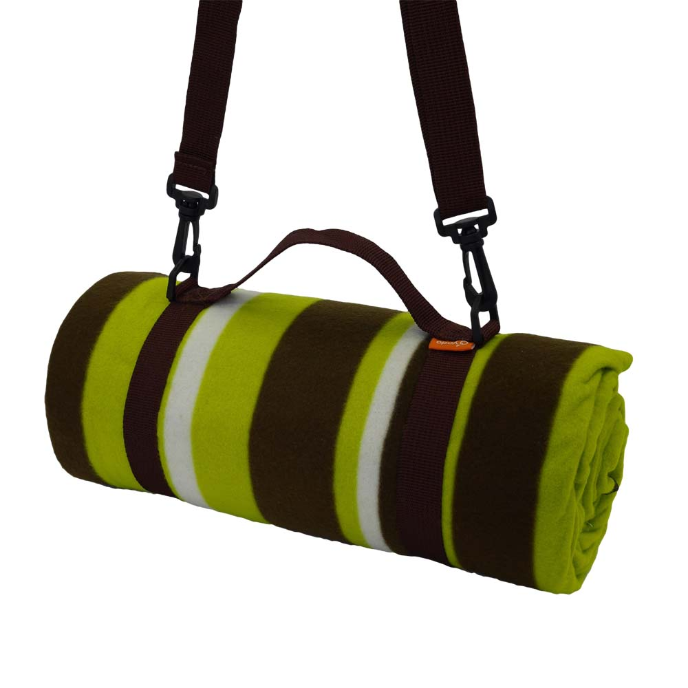 Funky picnic blanket with should strap