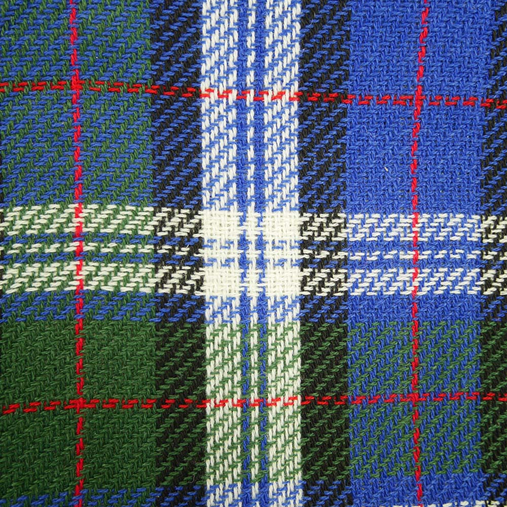 Close up of tartan picnic rug