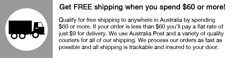 Get free shipping if you spend $0 or more otherwise it is just $9 for shipping