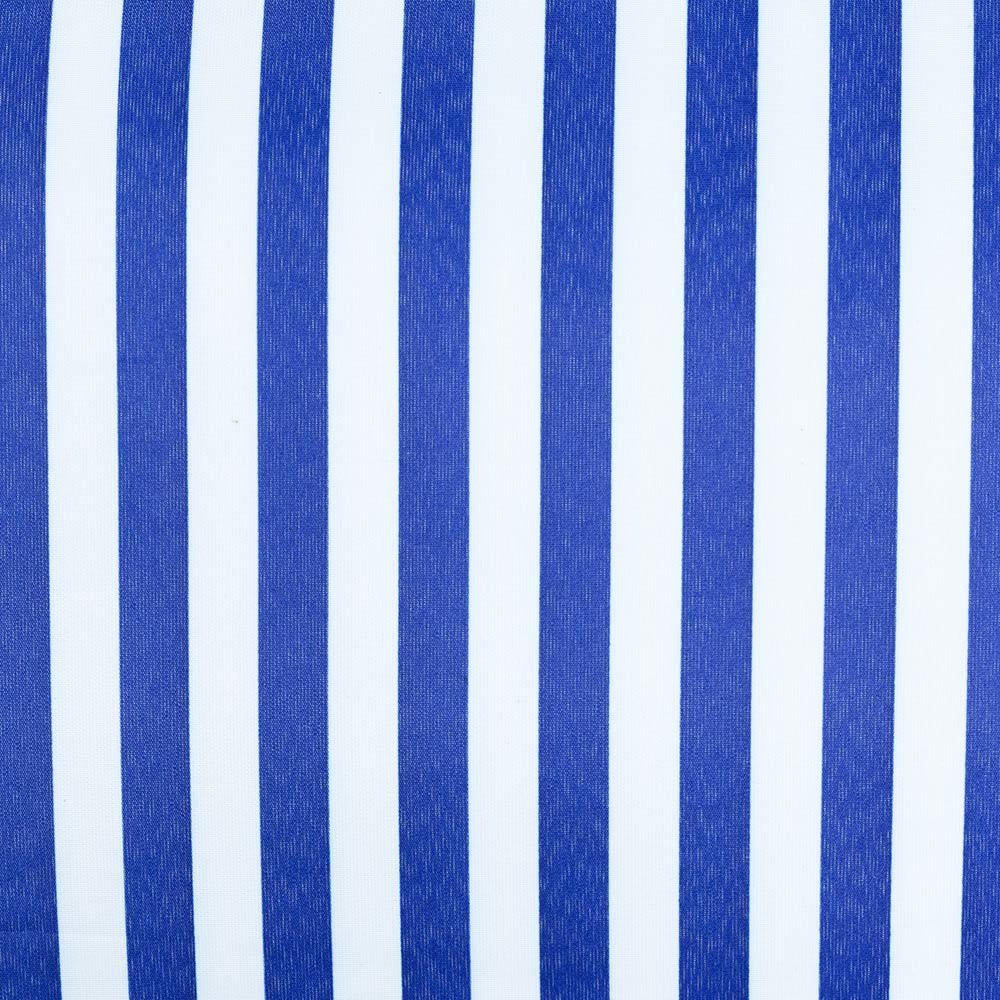 Close up Picnic Rug with Blue and White Stripes