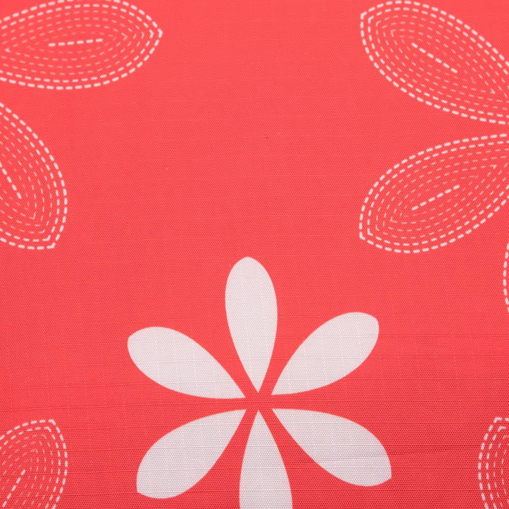 Close up Red Picnic Rug with Floral Pattern