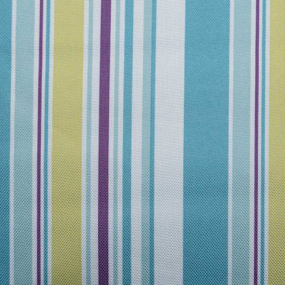 Close up Picnic Rug with Blue ,Green and Purple Stripes