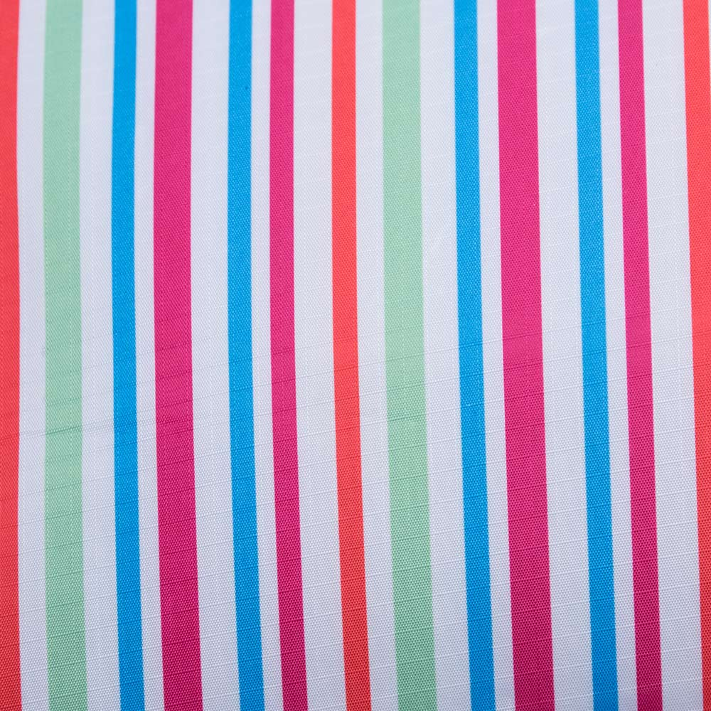 Close up Picnic Rug with Colorful Stripes