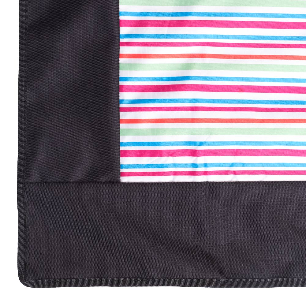 Edge Picnic Rug with Colorful Stripes